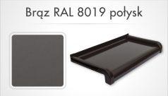 brąz RAL 8019 połysk